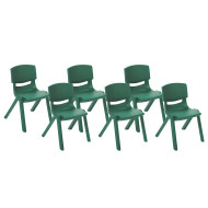 "Resin Stack Chairs- 14"" (set of 6)"