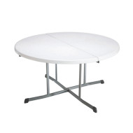LIFETIME 5FT ROUND FOLD IN HALF FOLDING TABLE