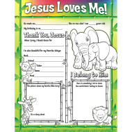 Fill Me In Posters: Jesus Loves Me (pack of 32)