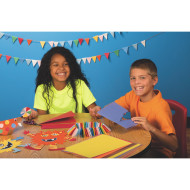 "SunWorks® Groundwood Construction Paper 9""x12"", 10-Color Asst. (pack of 500)"