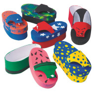 Papier Mache Flip-Flop Box (makes 12)