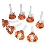 8 Note Single Ring Handbells (set of 8)