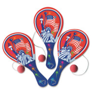 Patriotic Paddle Ball Game