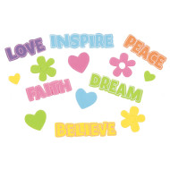 Foam Stickers - Words of Inspiration (pack of 126)
