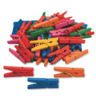 Tiny Spring Clothespins, Colored (pack of 50)