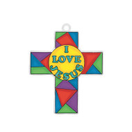 """I Love Jesus"" Cross Sun Catcher (pack of 12)"