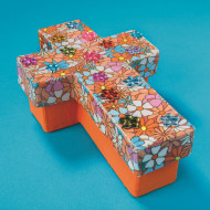 Paper Mache Cross Box (pack of 6)