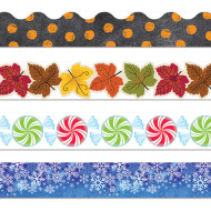 Fall & Winter Bulletin Board Trim Pack (pack of 4)