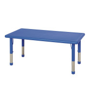 "Blue Resin Adjustable Activity Table, 24"" x 48"""