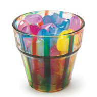 GLASS FLOWER POT/VOTIVE CUP PK24
