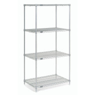"Wire Shelving Unit, 74""H x 48""W"