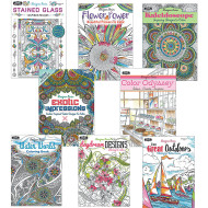 Adult Coloring Books Easy Pack (pack of 24)
