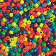 Neon Pony Beads 1-lb Bag (bag of 1600)