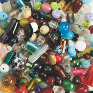 Exotic Glass Bead Assortment 1/2-lb Bag (bag of 250)