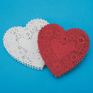 "Heart-Shaped Paper Lace Doilies, 4""  (pack of 100)"