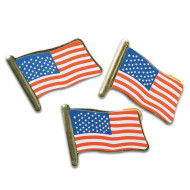 US Flag Lapel Pins (pack of 48)