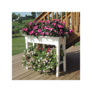 "36"" Deluxe Garden Planter with Shelf"