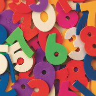 Color Splash!® Foam Shapes with Adhesive - Numbers, 600 pcs.