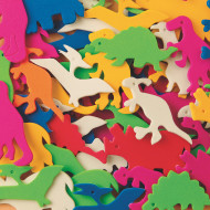 Color Splash!® Foam Shapes with Adhesive - Dinosaurs, 600 pcs.