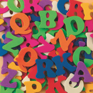 Color Splash!® Foam Shapes with Adhesive - ABCs, 1,00 pcs.