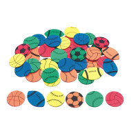 Color Splash!® Sports Shapes with Adhesive, 500 pcs.