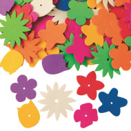 Color Splash!® Foam Flower Assortment, 1/2 lb. (pack of 360)