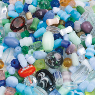 Glass Bead Mix 1/2-lb Bag