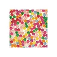 Multicolor Faceted Plastic Beads - 10mm  (bag of 850)