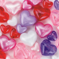 Heart Bead Assortment 1/2-lb Bag (bag of 220)