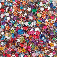 Faceted Acrylic Gemstones, 1/2 lb.  (bag of 2000)