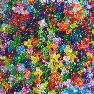 Transparent Tri-Beads 1-lb Bag
