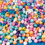 Pastel Vowel Beads 1/2-lb Bag (bag of 600)