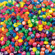 Neon Vowel Beads 1/2-lb Bag (bag of 600)
