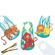 Zoo Door Hangers Craft Kit (makes 12)