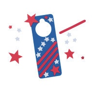 Star-Spangled Door Hanger Craft Kit (makes 12)