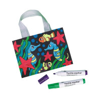 Velvet Sealife Totes Craft Kit (makes 12)