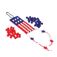 Beaded American Flag Craft Kit (pack of 12)