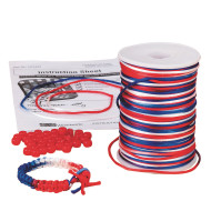 Patriotic Bracelet Craft Kit (pack of 48)