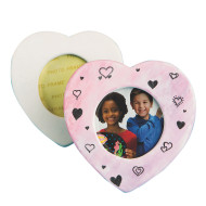 Color-Me™ Bisque Heart Frames (makes 24)