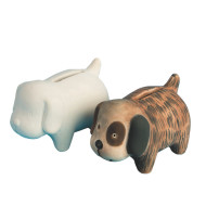 Color-Me™ Ceramic Bisque Puppy Banks (makes 12)