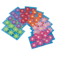 Felt Flower Stickers (pack of 72)