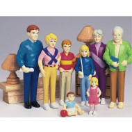 Caucasian Play Family  (set of 8)