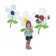 Flower Mirrors, Set of 3 (set of 3)