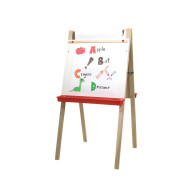"Adjustable Double Easel with 18""W Paper Roll"