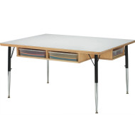 Classroom Cubbie Table With Paper Trays
