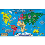 Melissa & Doug® Floor Puzzle World Map