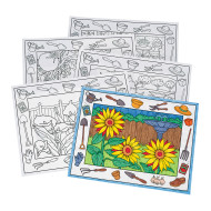 Coloring Placemats, In the Garden  (pack of 10)