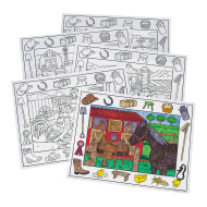 Coloring Placemats, On the Farm  (pack of 10)