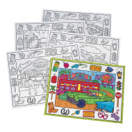 Coloring Placemats, On the Go  (pack of 10)
