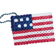 Fuse Bead American Flag Craft Kit (pack of 12)